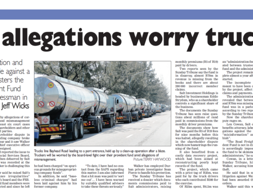 Fund allegations worry truckers