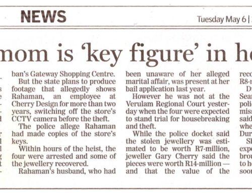 Married mom is key figure in heist trail