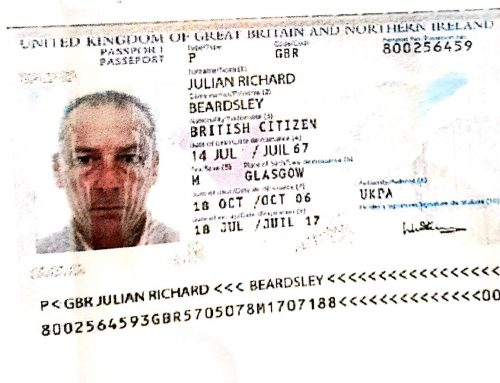Scam Alert – Mr Julian Richard Beardsley